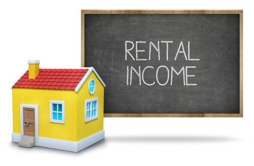 Sign showing rental income at Trinity Property Management